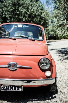 Around Sicily, in a vintage 1960s Fiat Cinquecento