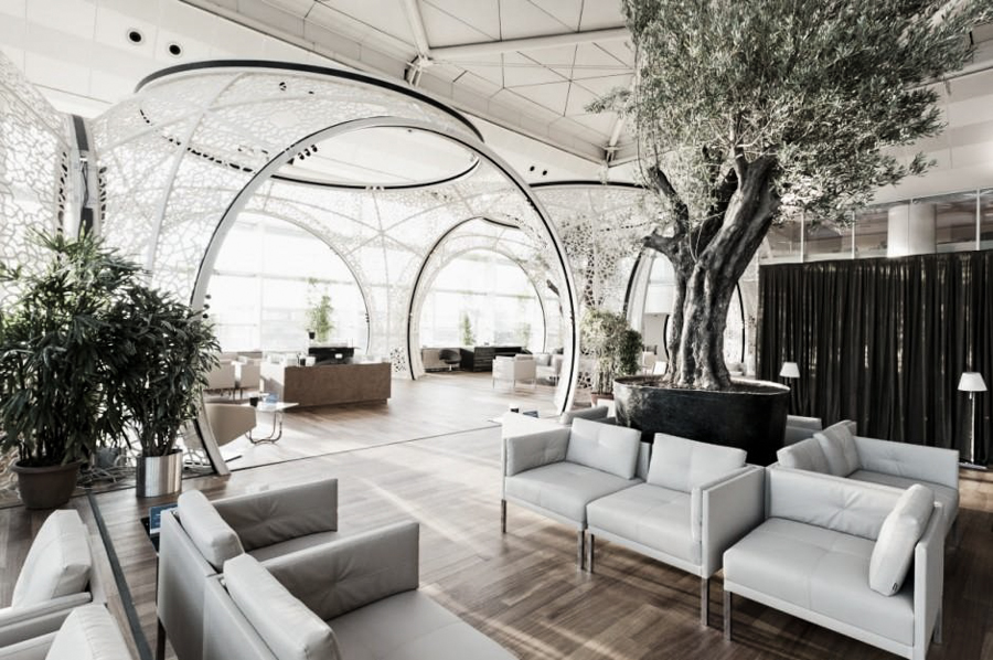 The Autoban-designed CIP Lounge at Istanbul's Ataturk Airport