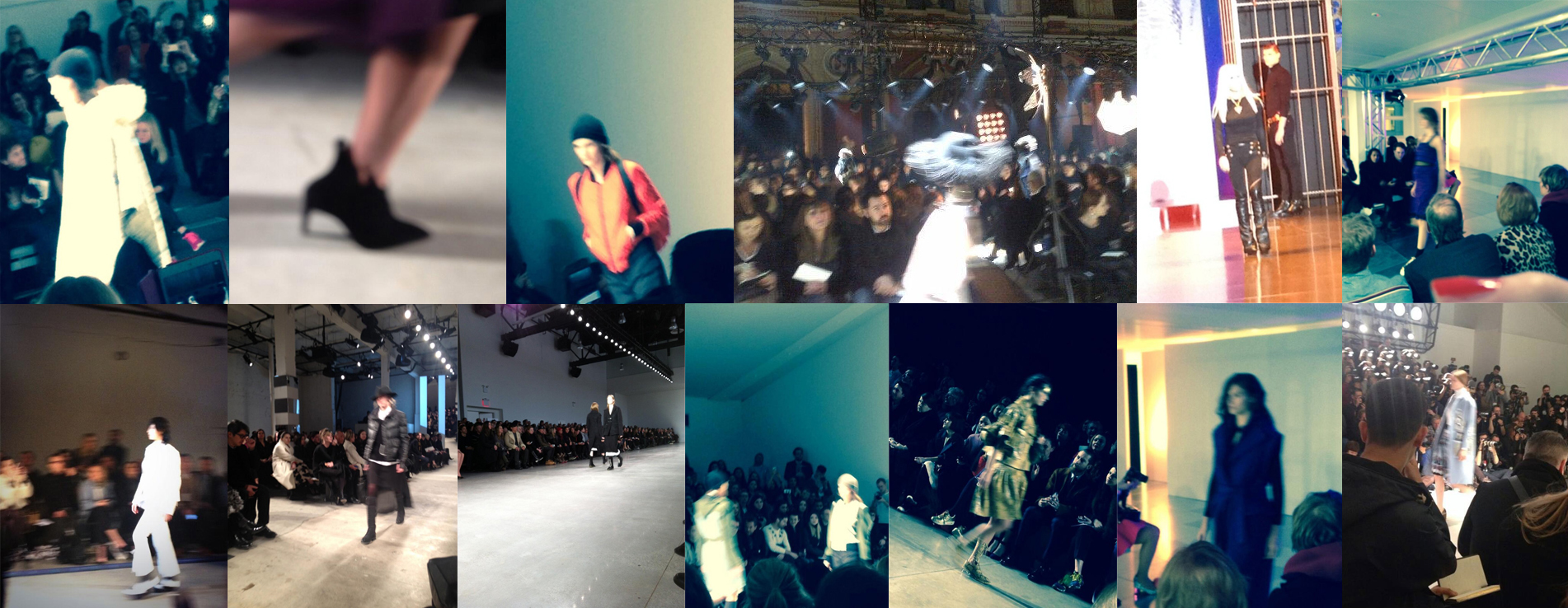 The Autumn/winter 2014 shows. Maybe