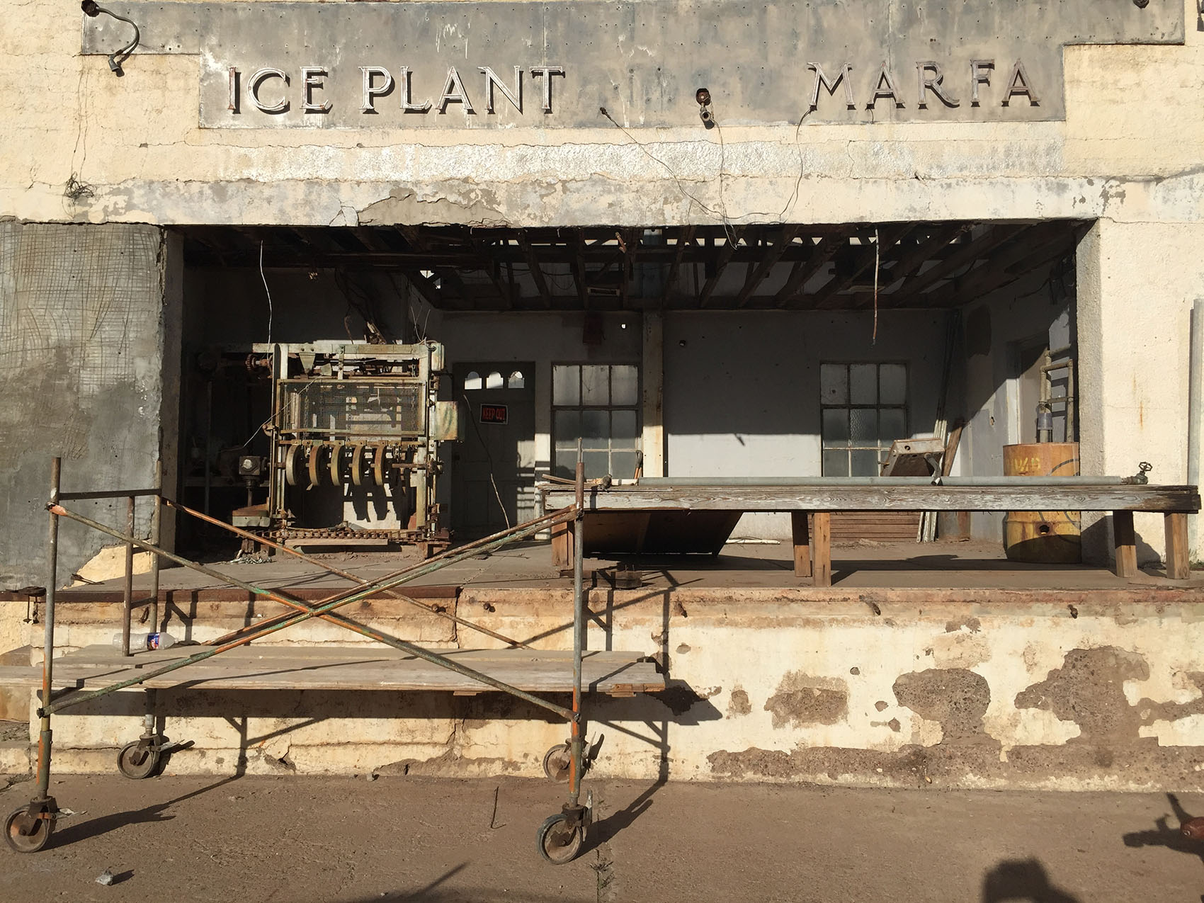 The abandoned ice plant, Marfa