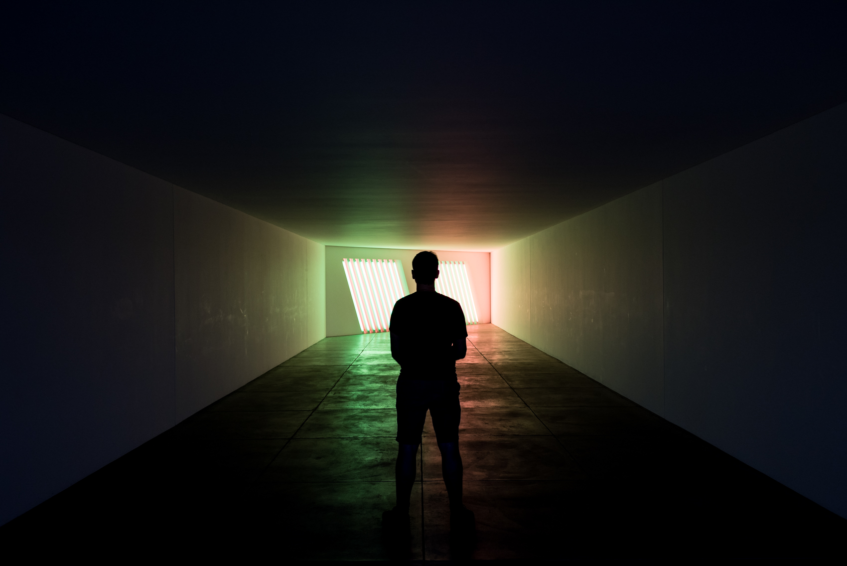 Dan Flavin exhibition at the Chinati Foundation