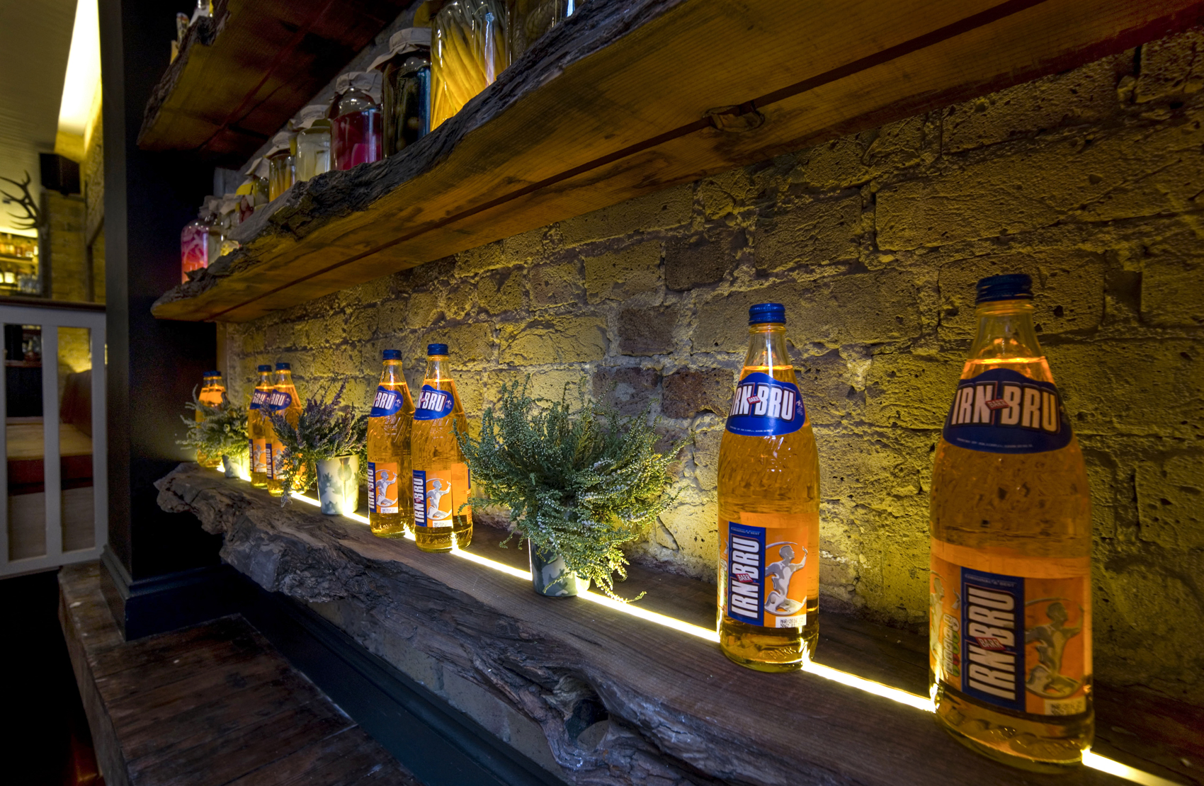 Irn Bru installation at Mac & Wild, London
