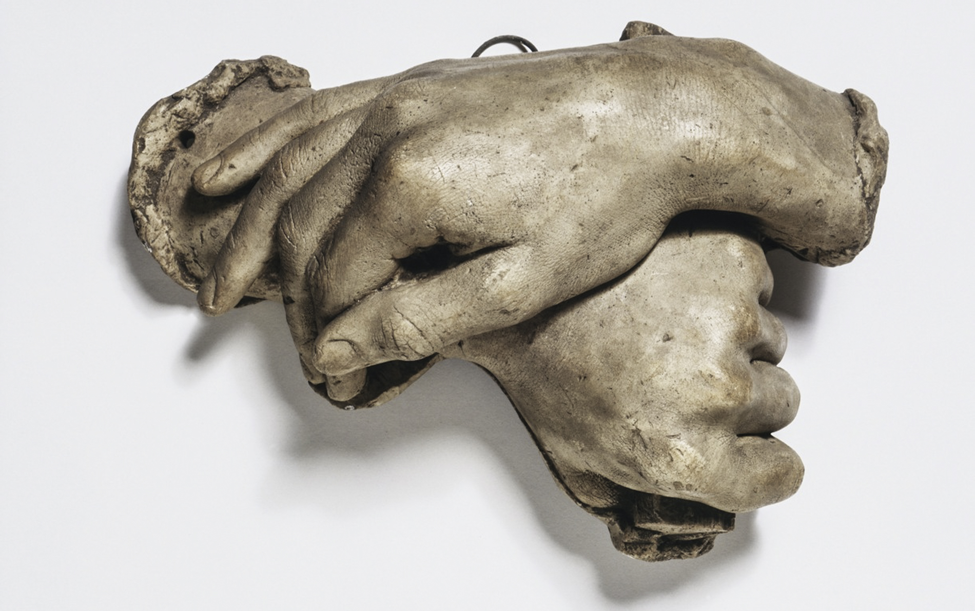 Plaster hands of Count Camillo Cavour ca. 1858 - ca. 1859 (made) © Victoria and Albert Museum, London. Image Courtesy of The Victoria & Albert Museum