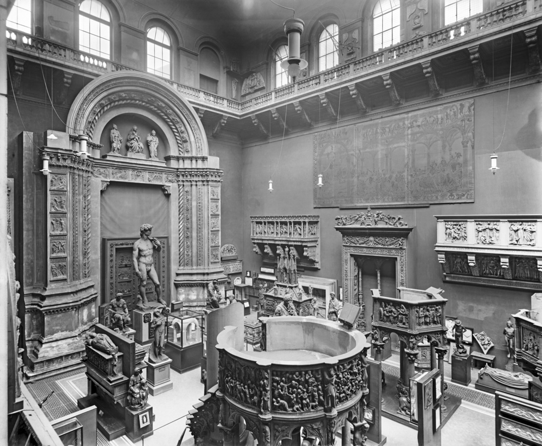 Construction of the V&A Cast Courts, 1871-2 © V&A Images. Image Courtesy of The Victoria & Albert Museum