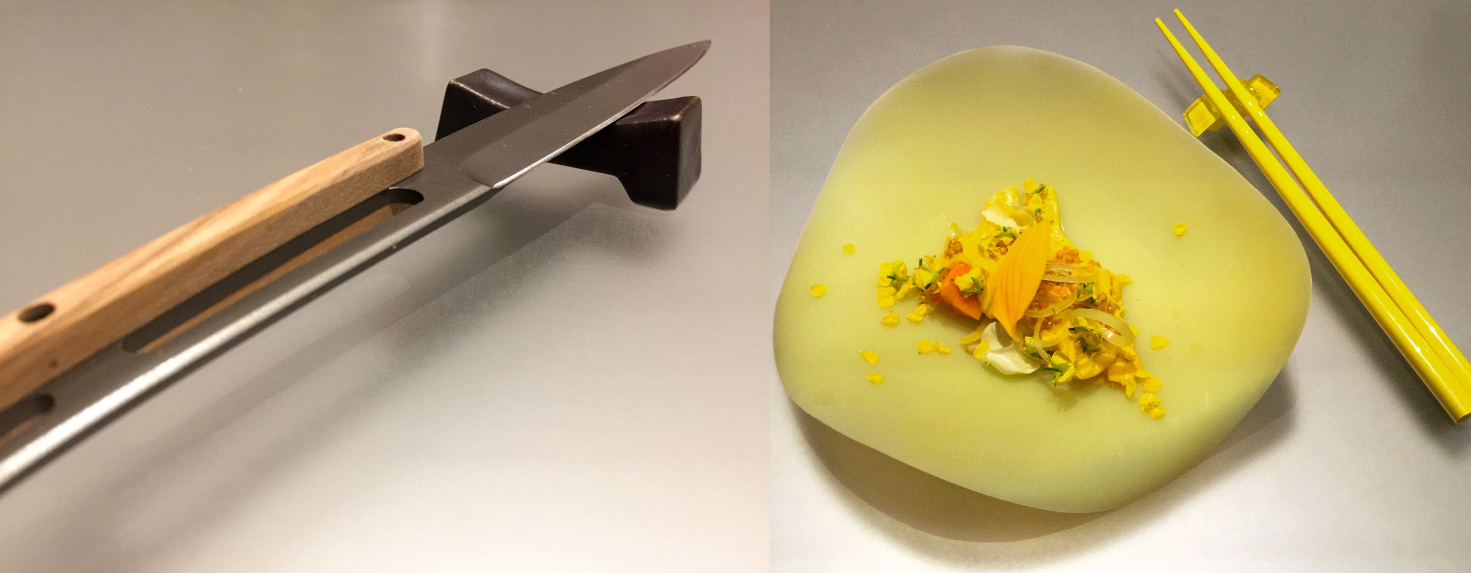 Steak knife and 'Yellow', Alinea, Chicago