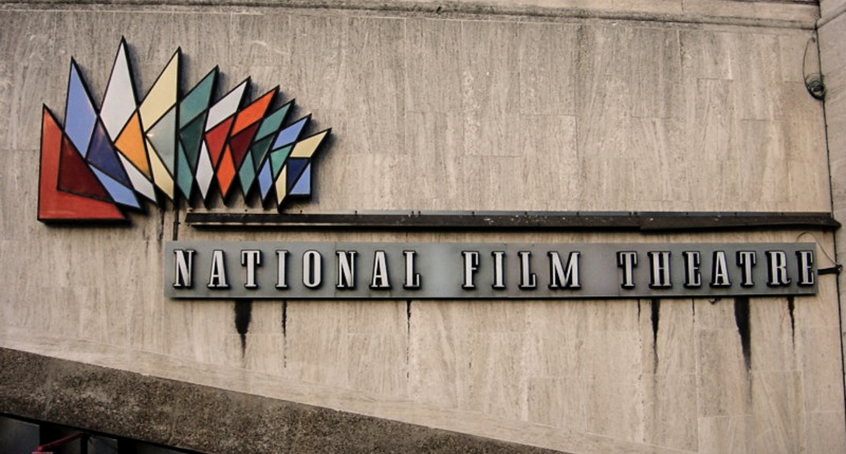 The original National Film Theatre sign, Southbank Centre, London