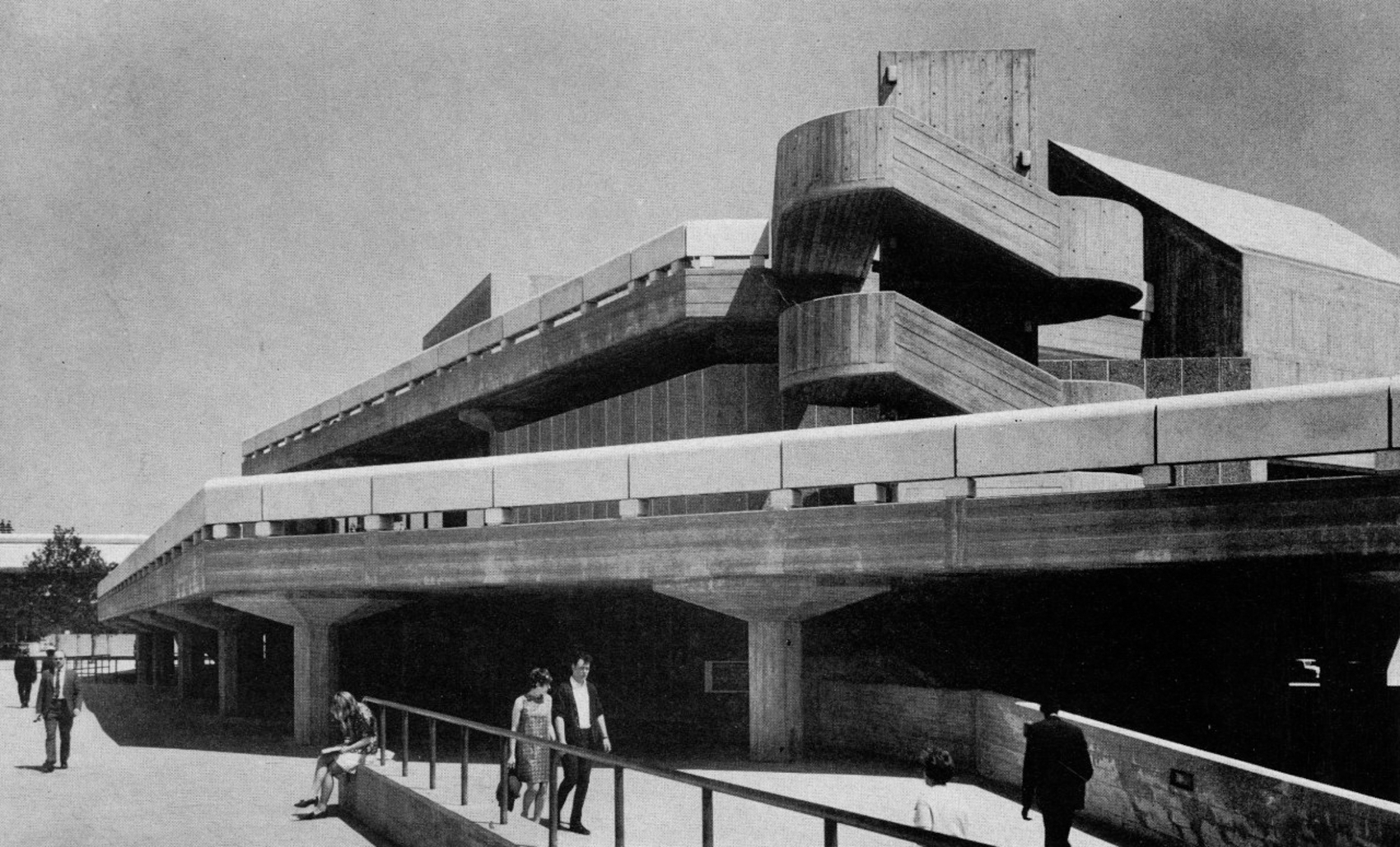 Vintage imagery of the Southbank Centre, London