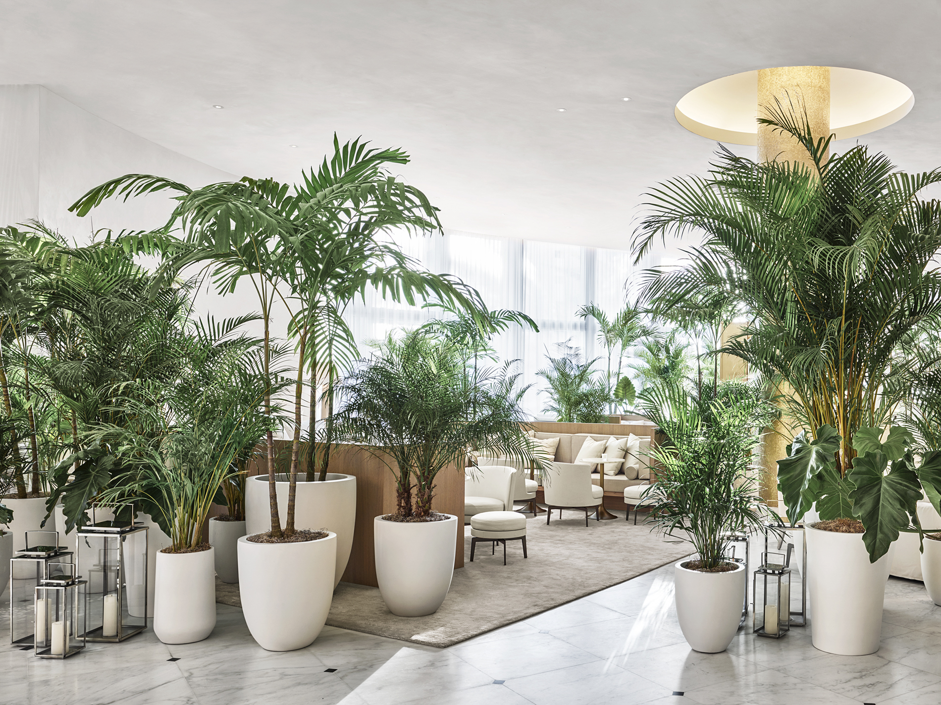 The lobby at the Miami Beach EDITION