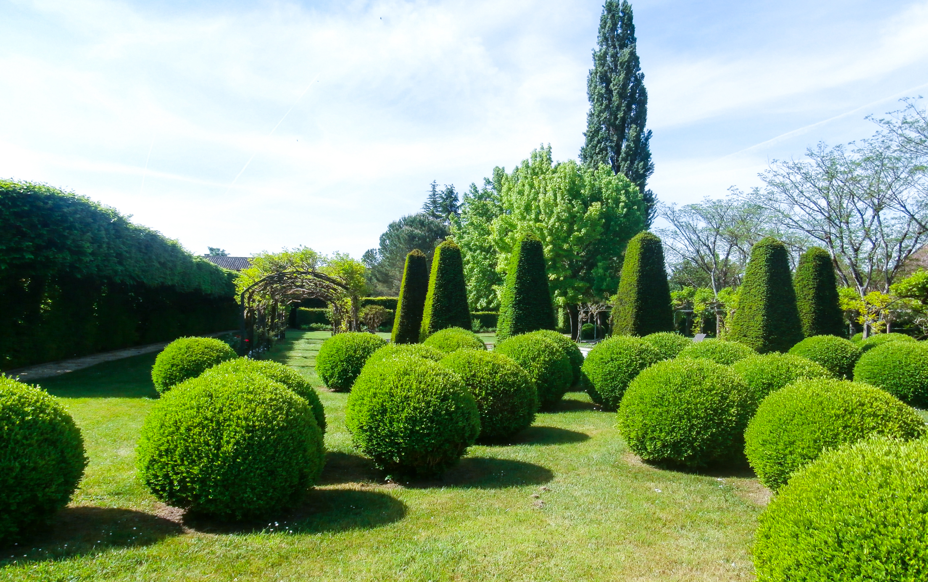 The gardens at Le Vieux Logis