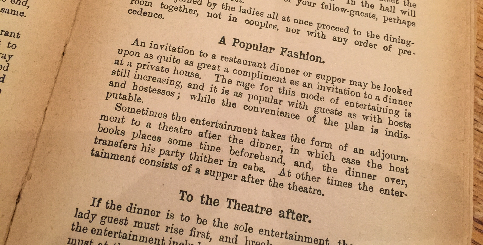 Etiquette for Men: one of the vintage books left on the tables at Inver