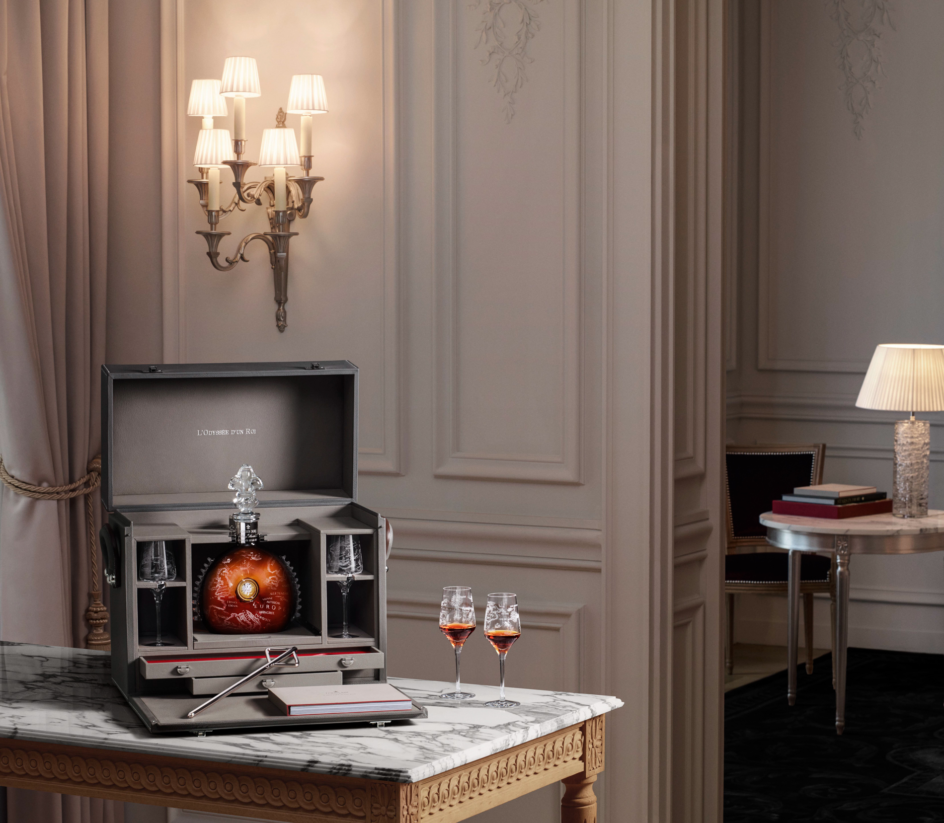 Louis XIII cognac at the Royal Monceau