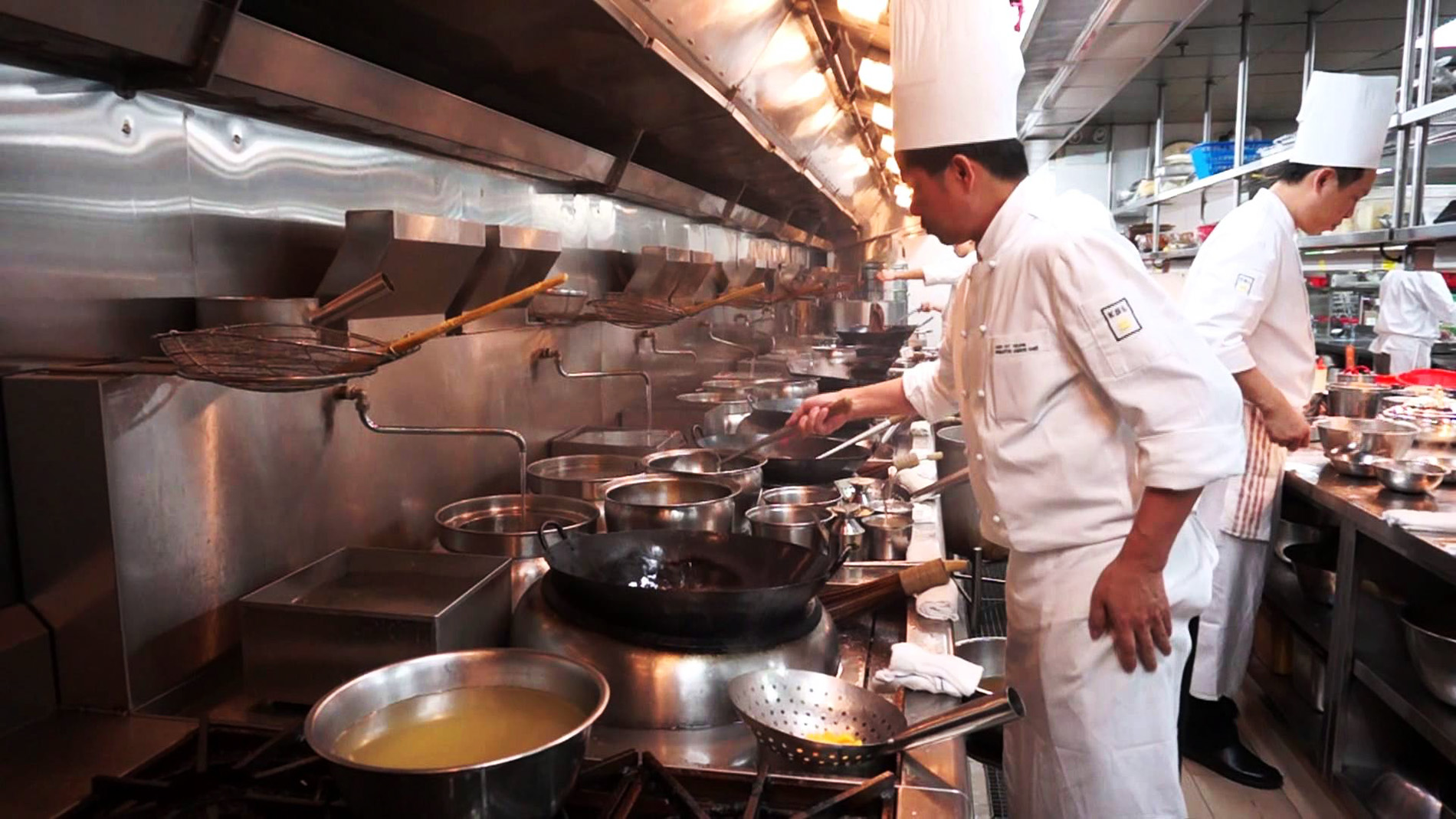 The kitchen at Shang Palace