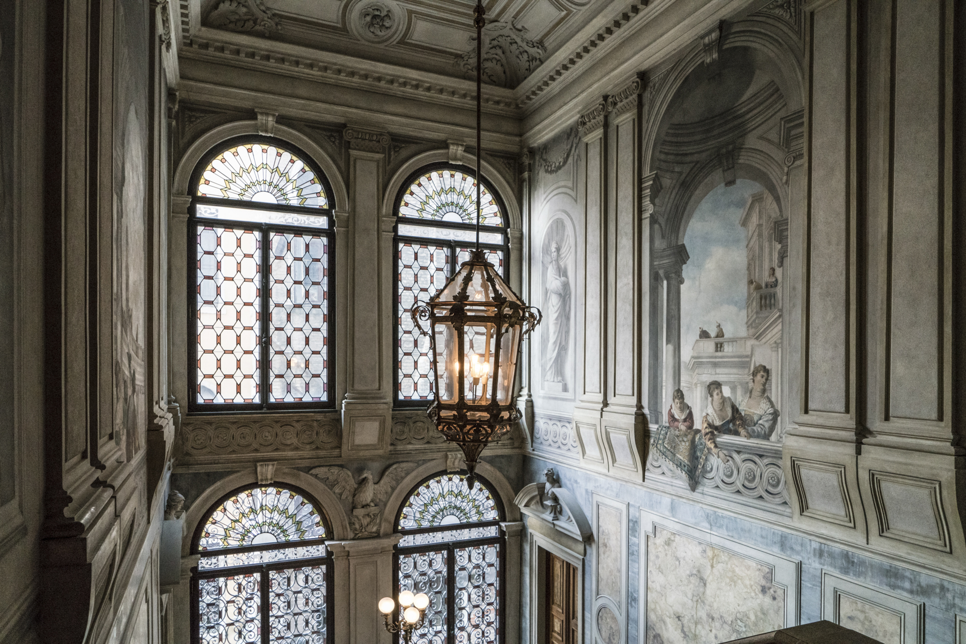 The grand staircase, Aman Venice