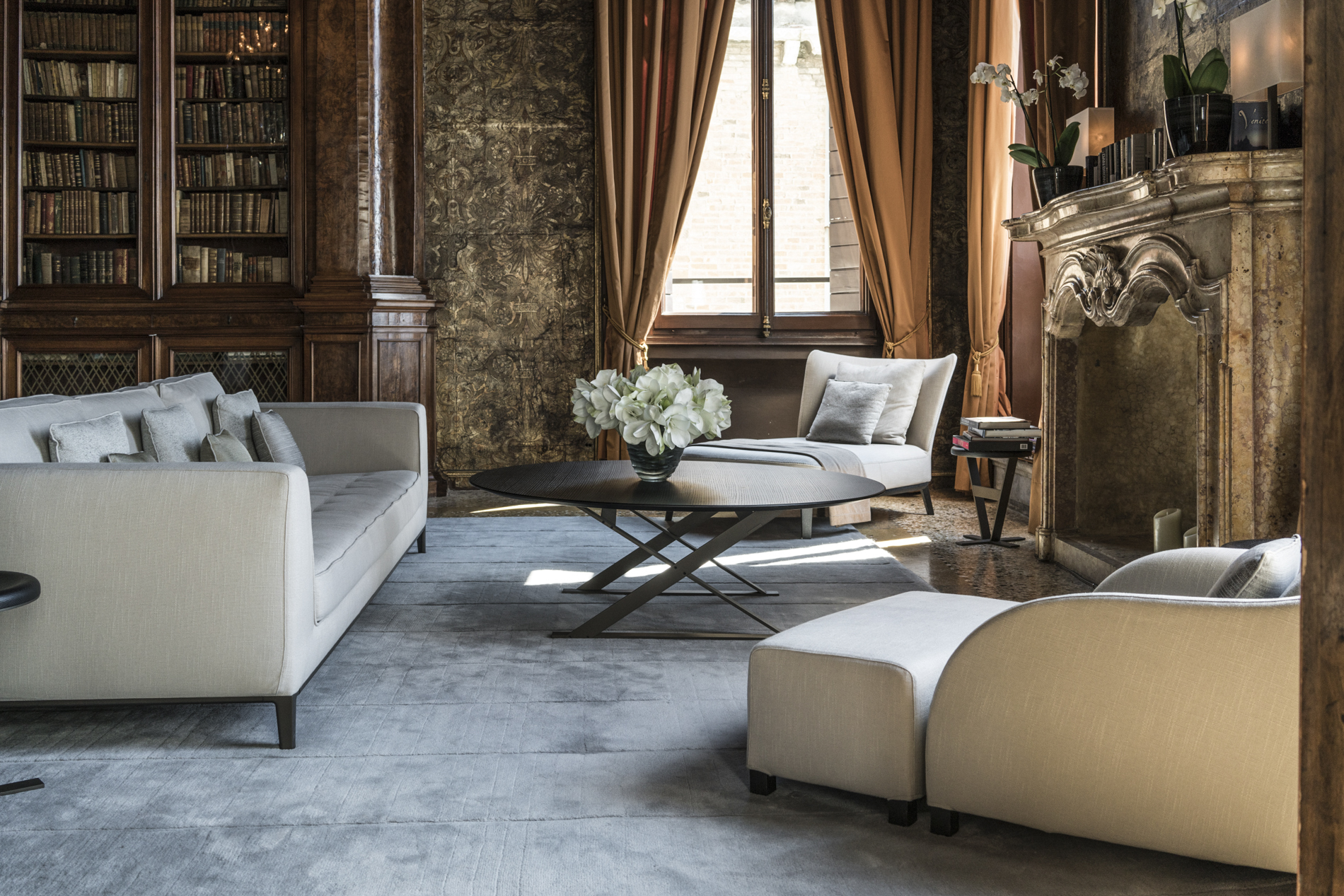 The library, Aman Venice
