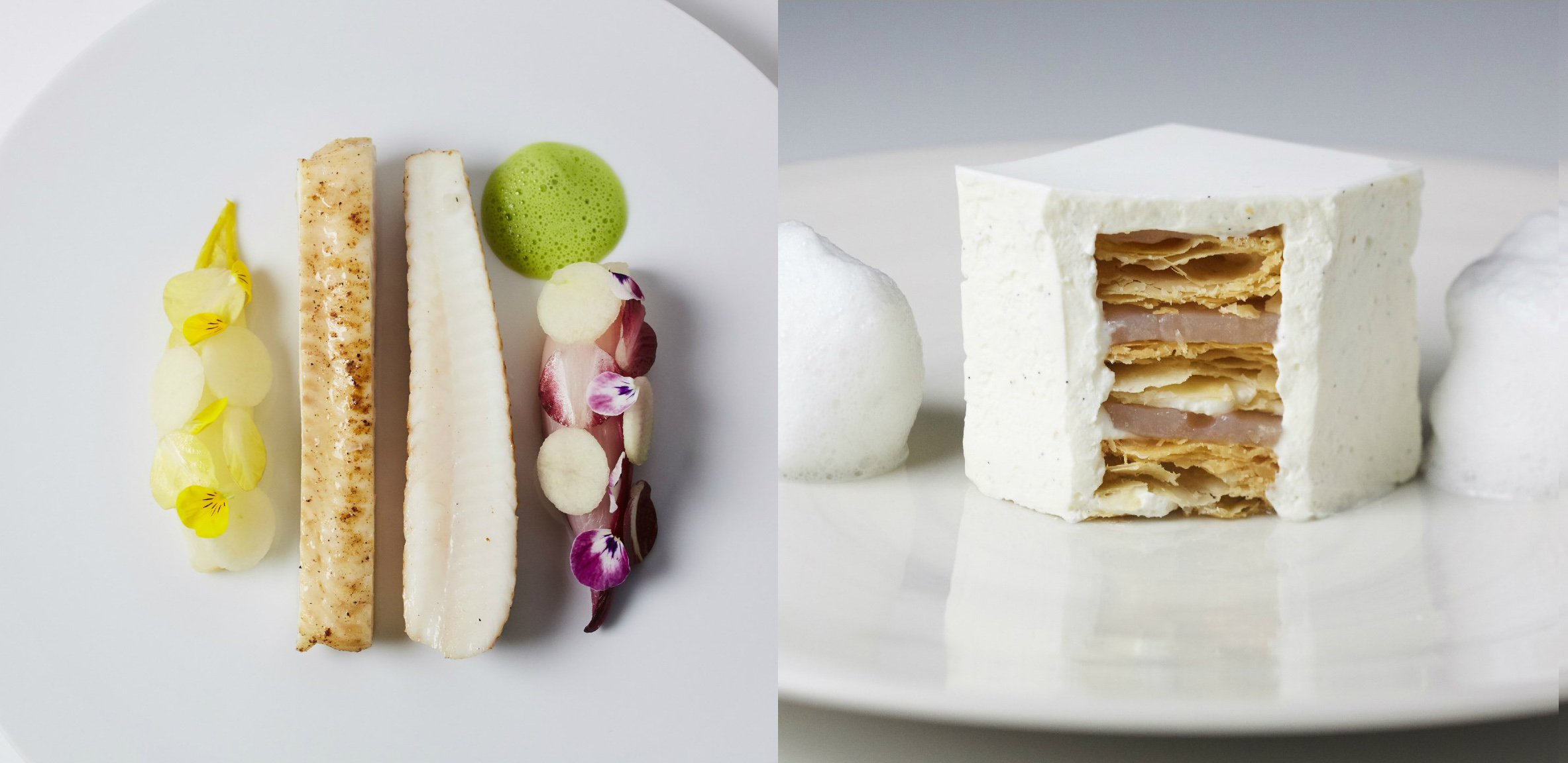 Perfect for Instagram: The White Millefeuille (right)