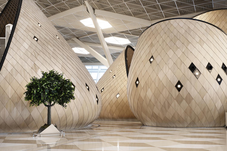 Baku's international terminal in Azerbaijan, designed by Autoban