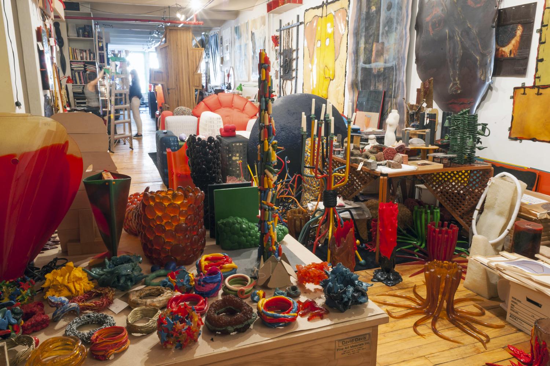 Gaetano Pesce's studio in SoHo, New York City